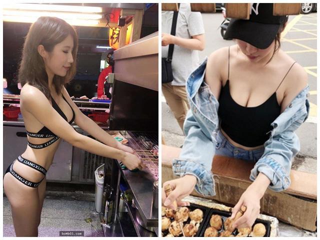 Những cô chủ nóng bỏng hơn cả đồ ăn trên tay, đàn ông kéo đến quán ăn thì