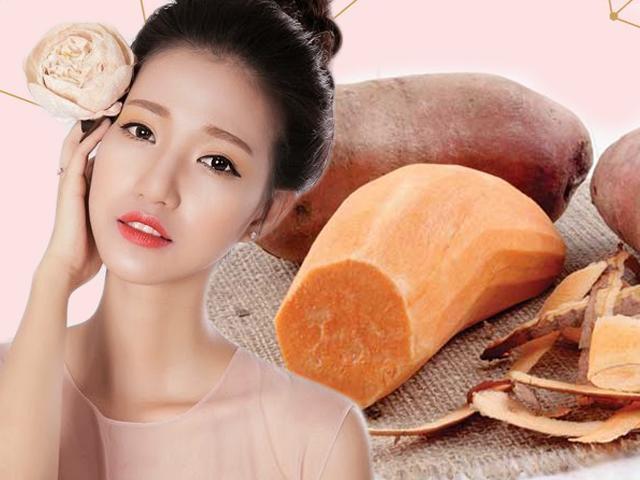 Chỉ 1 củ khoai lang là bạn có ngay 2 công thức dưỡng trắng giúp da sáng bừng mịn màng