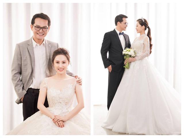 U50 Trung Hiếu khoe ảnh cưới với vợ 9X kém gần 20 tuổi