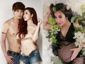 Chưa từng lộ có chồng, DJ chụp ảnh nude cùng Hồ Quang Hiếu bất ngờ khoe bầu 8 tháng
