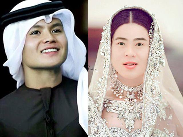 Ảnh chế ĐT Việt Nam hóa trai đẹp Ả Rập: Quang Hải hợp lạ, đến Lâm Tây mới bất ngờ!