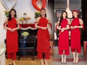 """Màn đụng áo dài """"căng não"""" giữa cặp chị em Á hậu độc nhất Vbiz và Chi Pu, Kelly Nguyễn"""