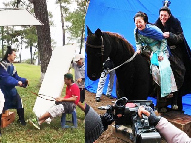 Hậu trường ảo tung chảo trong phim 70 tỷ của Nhã Phương: Cưỡi ngựa... gỗ y như Trung Quốc