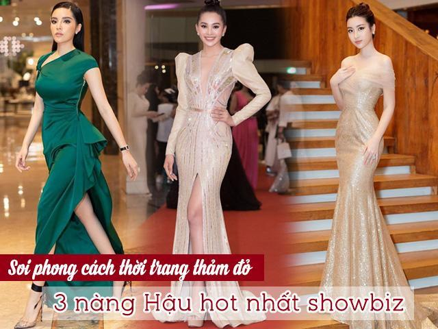 Kỳ Duyên, Mỹ Linh, Tiểu Vy: Cuộc chiến đọ sắc vóc với váy áo trên mặt trận thảm đỏ