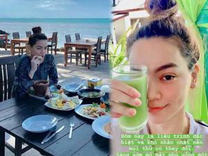 """Hồ Ngọc Hà than thở ăn như chết đói"""" sau chuyến detox thải độc dài ngày ở Thái Lan"""