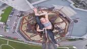 Thót tim trước màn trình diễn của nữ vũ công trên nóc tòa nhà 16 tầng