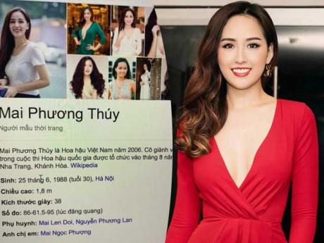 Sao Việt 24h: Mai Phương Thuý cầu cứu sửa tên bố bị sai lệch trên Wikipedia