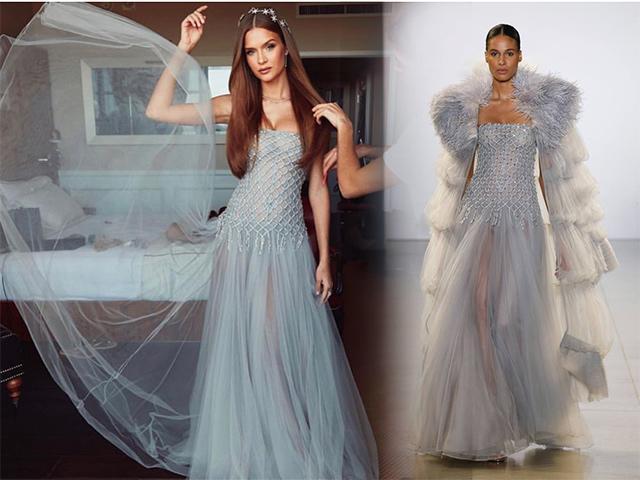 Thiên thần Victorias Secret toả sáng với váy Công Trí trên thảm đỏ Oscar 2019
