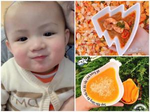 Vợ chồng Việt tại Séc nấu cả trăm món ăn dặm ngon và đẹp mắt cho con trai