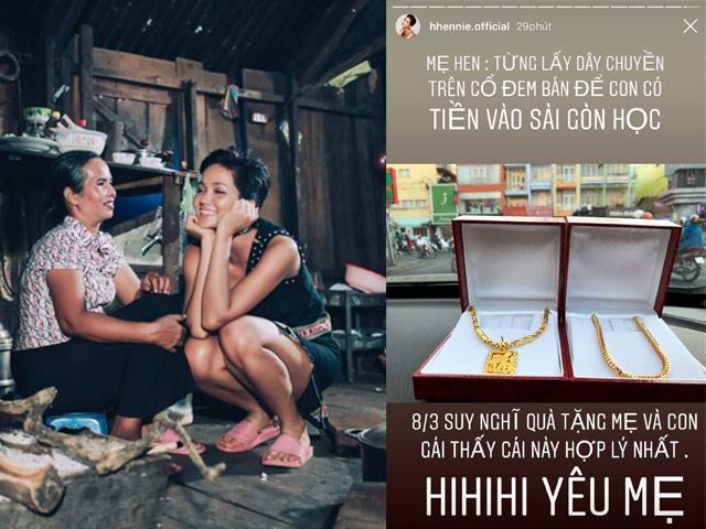 HHen Niê mua trang sức 80 triệu tặng mẹ, ai cũng cảm động khi biết câu chuyện đằng sau