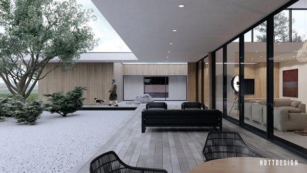 Xuýt xoa căn nhà hai tầng có thiết kế đẹp không tì vết