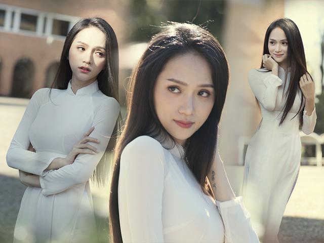 50 sắc thái đẹp mê hồn của Hoa hậu Hương Giang khi diện áo dài nữ sinh