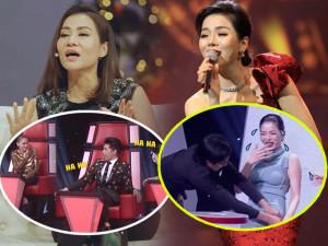 Sự cố ngượng đỏ mặt của Thu Minh, Lệ Quyên trên sóng truyền hình: Oan gia vì cái mic!