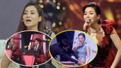 """Sự cố """"ngượng đỏ mặt"""" của Thu Minh, Lệ Quyên trên sóng truyền hình: Oan gia vì cái mic!"""
