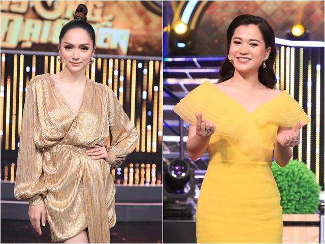 Đi ghi hình gameshow, Hương Giang đẹp như nữ thần, Lâm Vỹ Dạ cũng không kém Hoa hậu
