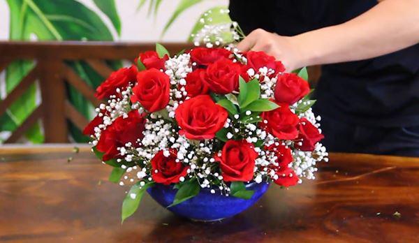 Cách cắm hoa hồng đẹp đơn giản phù hợp với mọi không gian trang trí - 19