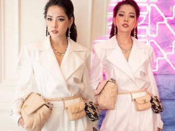 """Không may túi ba gang, Chi Pu một mình mang ba túi chứng tỏ đẳng cấp """"quý cô hàng hiệu"""""""