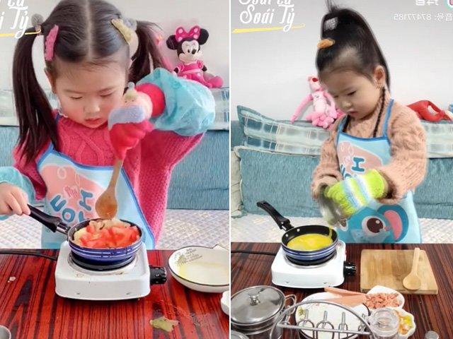 Bé gái trổ tài nấu ăn thần sầu khiến các mẹ tranh nhau nhận làm con dâu tương lai