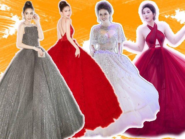 Những bộ váy công chúa khổng lồ nuốt trọn thế giới của Ngọc Trinh