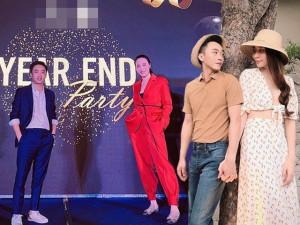 Không váy điệu đà, Đàm Thu Trang bắt chước chồng mặc vest dự tiệc, lại dính nghi vấn bầu bí