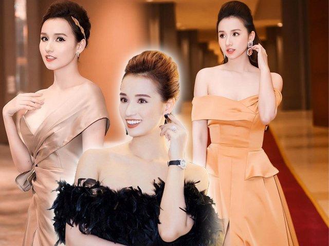 Diện chiếc váy trễ nải, Lã Thanh Huyền tự tin nhận 21 tuổi mà ai cũng gật gù đồng ý