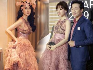 Diện cùng mẫu váy, Hari Won và Angela Phương Trinh chia nhau giải mặc xấu vì lộ mút ngực