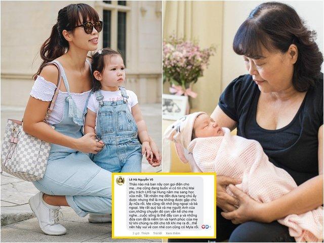 Sao Việt 24h: Hà Anh vẫn thân với mẹ và bà người yêu cũ, mẹ ruột bình luận xúc động