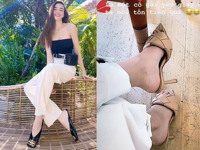 Là một cô gái yêu giày dép, Hồ Ngọc Hà mới tậu giày hiệu nhưng lại kêu: tốn tiền quá