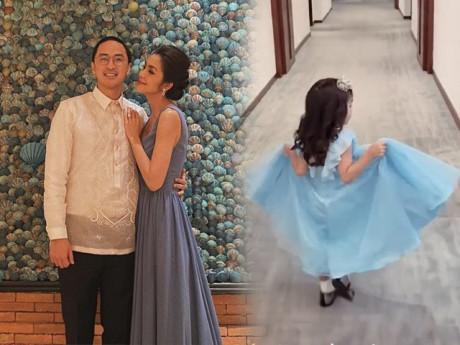 Tăng Thanh Hà diện váy đôi với con gái trong ngày sinh nhật ông xã Louis Nguyễn