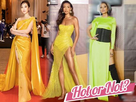 Đỗ Mỹ Linh-Minh Tú đại chiến váy áo tông vàng rực, H'Hen Niê mất điểm vì chiếc đầm xanh chuối
