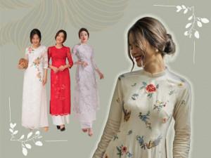 """Bạn có biết màu sắc và họa tiết hoa trên áo dài cũng mang ý nghĩa """"cầu được ước thấy?"""