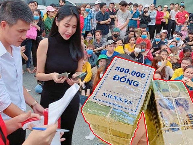 Thủy Tiên - Công Vinh tặng gần 1 tỷ đồng cho hơn 600 công nhân bị quỵt lương Tết