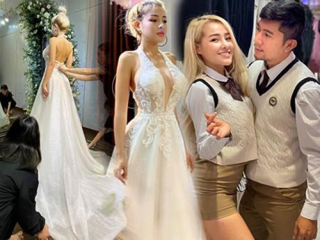 Cận Tết, Ngân 98 đăng hình thử áo cưới, thông báo sắp theo chồng về dinh?