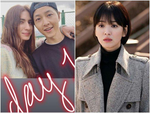 Giữa lúc Song Hye Kyo bị khui chuyện bắt cá 2 tay, Song Joong Ki tươi rói bên gái đẹp