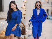Thời trang - Nhàm chán với sắc đỏ ngày Tết, đừng ngại phá cách với trang phục tông xanh cổ điển hot trend