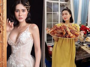 Người đẹp được tặng nhà 22 tỷ khoe ăn Tết mâm tôm siêu to khổng lồ dưỡng thai lần 3