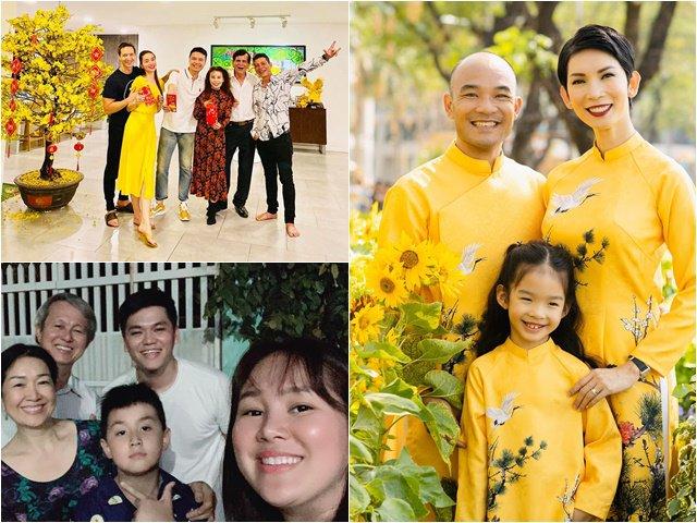 Tết của sao: Xuân Lan hạnh phúc bên chồng mới, Kim Lý đón Giao thừa ở nhà Hồ Ngọc Hà
