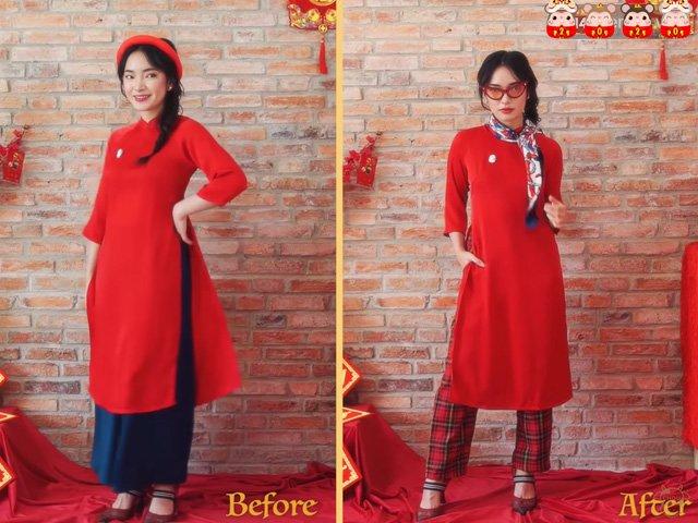 Còn mùng là còn Tết, Châu Bùi gợi ý 5 cách biến hóa áo dài cực xinh để du xuân