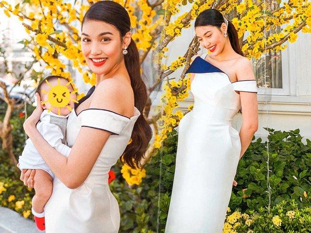 Làm mẹ thời 4.0 như Lan Khuê, ở nhà lau dọn cho con vẫn ăn mặc sang chảnh
