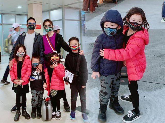 Nhà Lý Hải Minh Hà đi du lịch vẫn không quên sắm khẩu trang sành điệu để chống dịch bệnh