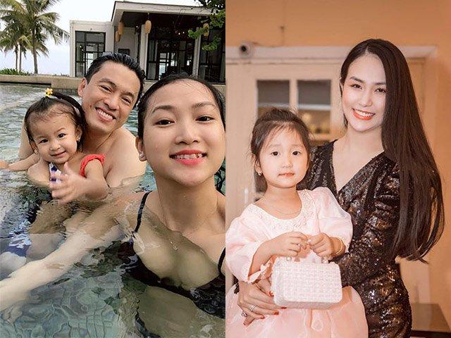 Những cô vợ đáng tuổi cháu của sao Việt, đẻ bao lần vẫn đẹp nõn nà