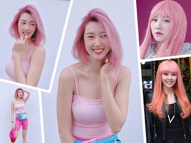 Thuý Ngân lại chơi trội với màu tóc hồng, vượt hẳn Minh Hằng, Hari Won vì quá xinh
