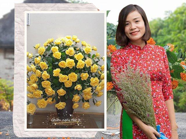 Mẹ Nam Định tự mày mò học cắm hoa đẹp ngất ngây, ai nhìn cũng gật gù khen ngợi