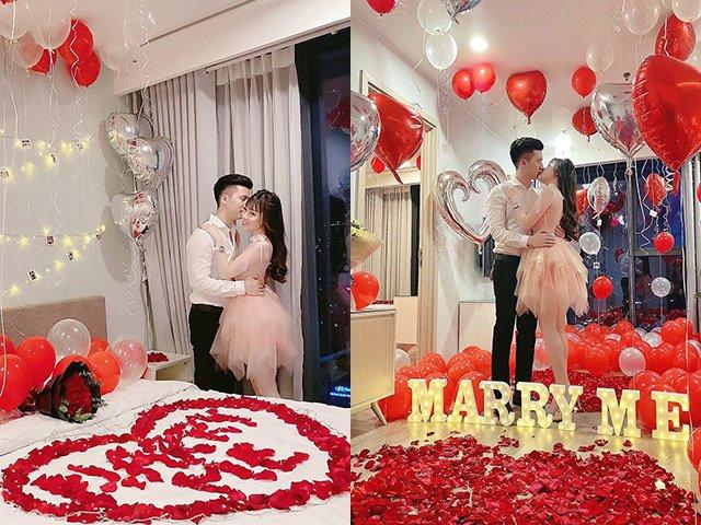 Nữ giảng viên hotgirl được chồng tổ chức Valentine lãng mạn, dân tình soi điểm lạ trên giường