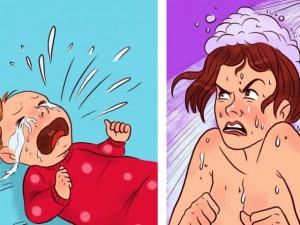Không còn đầu bù tóc rối khi nuôi con nếu mẹ làm theo những mẹo dưới đây