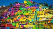 Bức tranh tường cầu vồng khổng lồ ở Mexico
