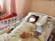 Vợ mới sinh than   nệm có vấn đề  , chồng vừa kiểm tra hốt hoảng bế ngay đi cấp cứu