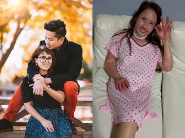 Mắc bệnh giống Selena Gomez, mẹ Việt xinh đẹp mang bầu chịu cảnh da nứt toang, ăn qua ống thở