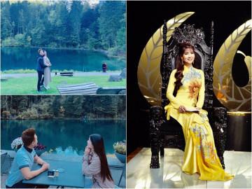 """Vừa tung ảnh tuyệt đẹp cùng chồng tại Thuỵ Sĩ, Kha Ly tiếp tục gây chú ý trên """"ghế nóng"""""""