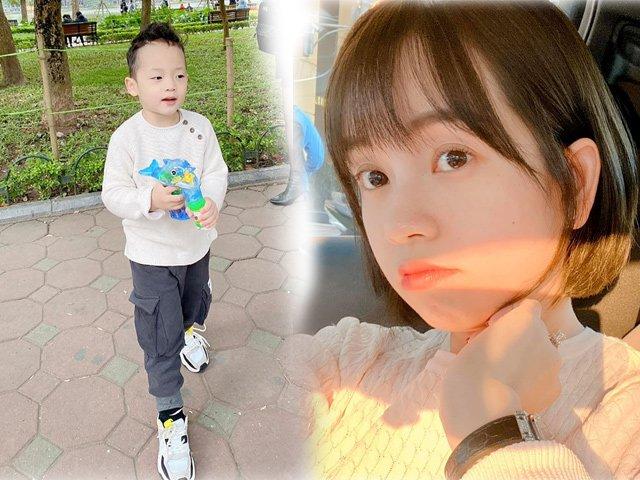 Dáng vẻ cao lớn phổng phao, tóc đẹp như soái ca Hàn của con trai hotgirl Ly Kute